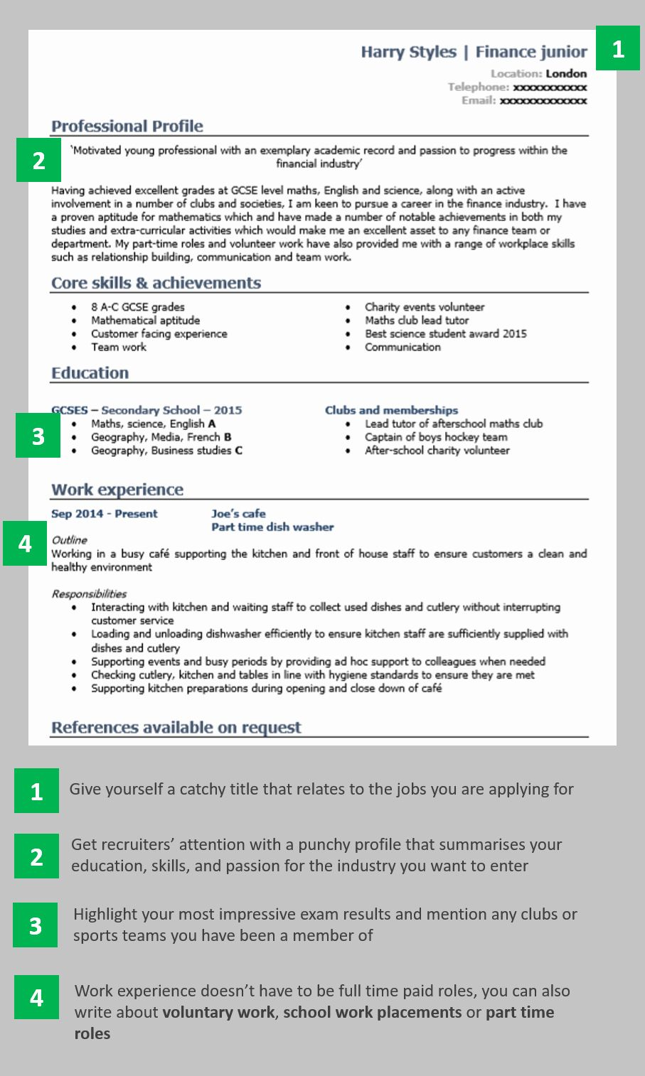 Credit Card Size Template Lovely Resume For School Leavers Zimerong Writing A Cv Cv Examples Resume Examples