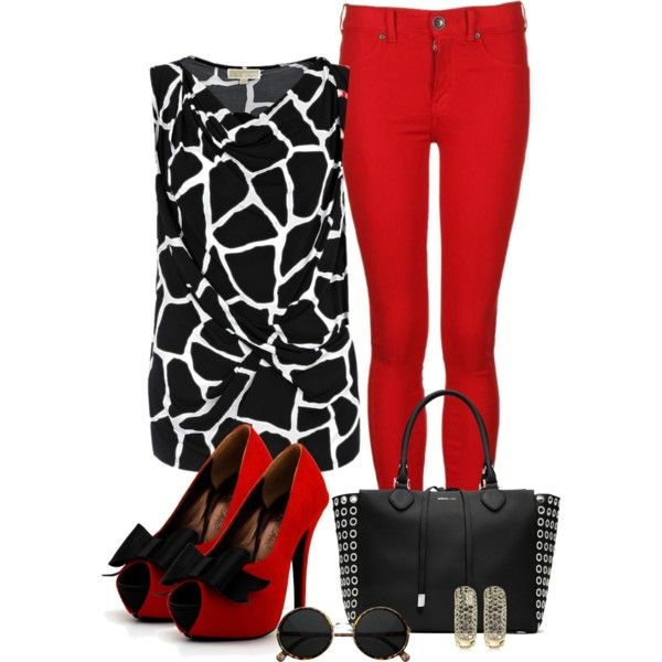B/w top, created by bluebells75 on Polyvore