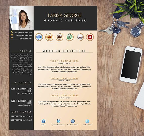 Get Yourself Ready For That Dream Job Use This Custom Cv Template