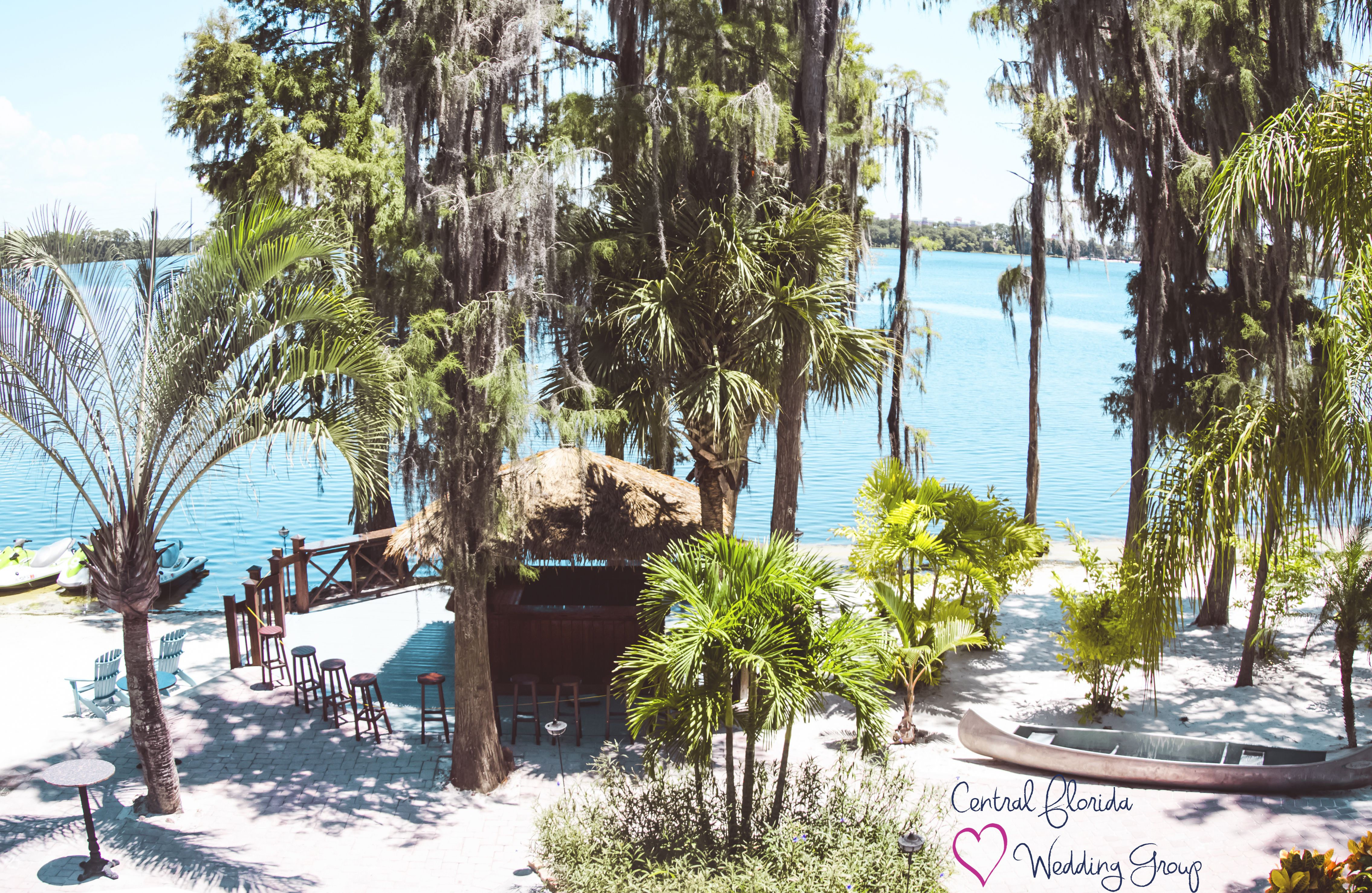 Central florida wedding groups view of paradise cove