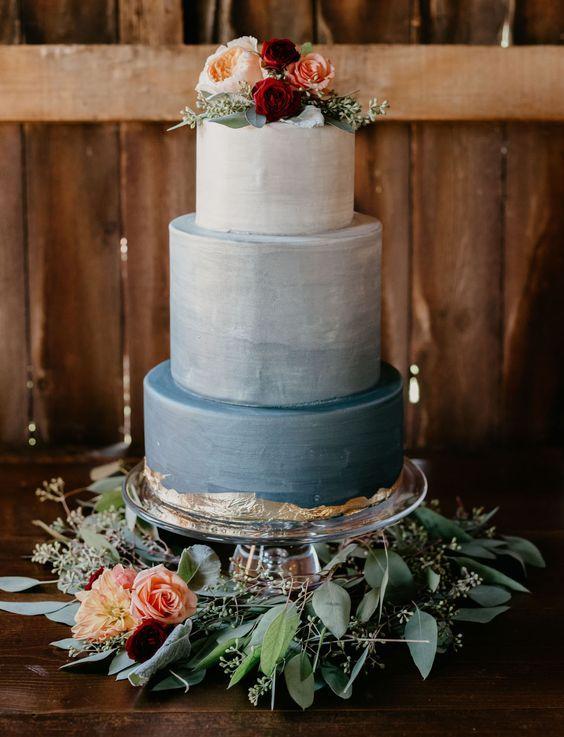 60 fantastic, elegant, chic wedding cakes design inspiration -   15 cake Wedding blue ideas