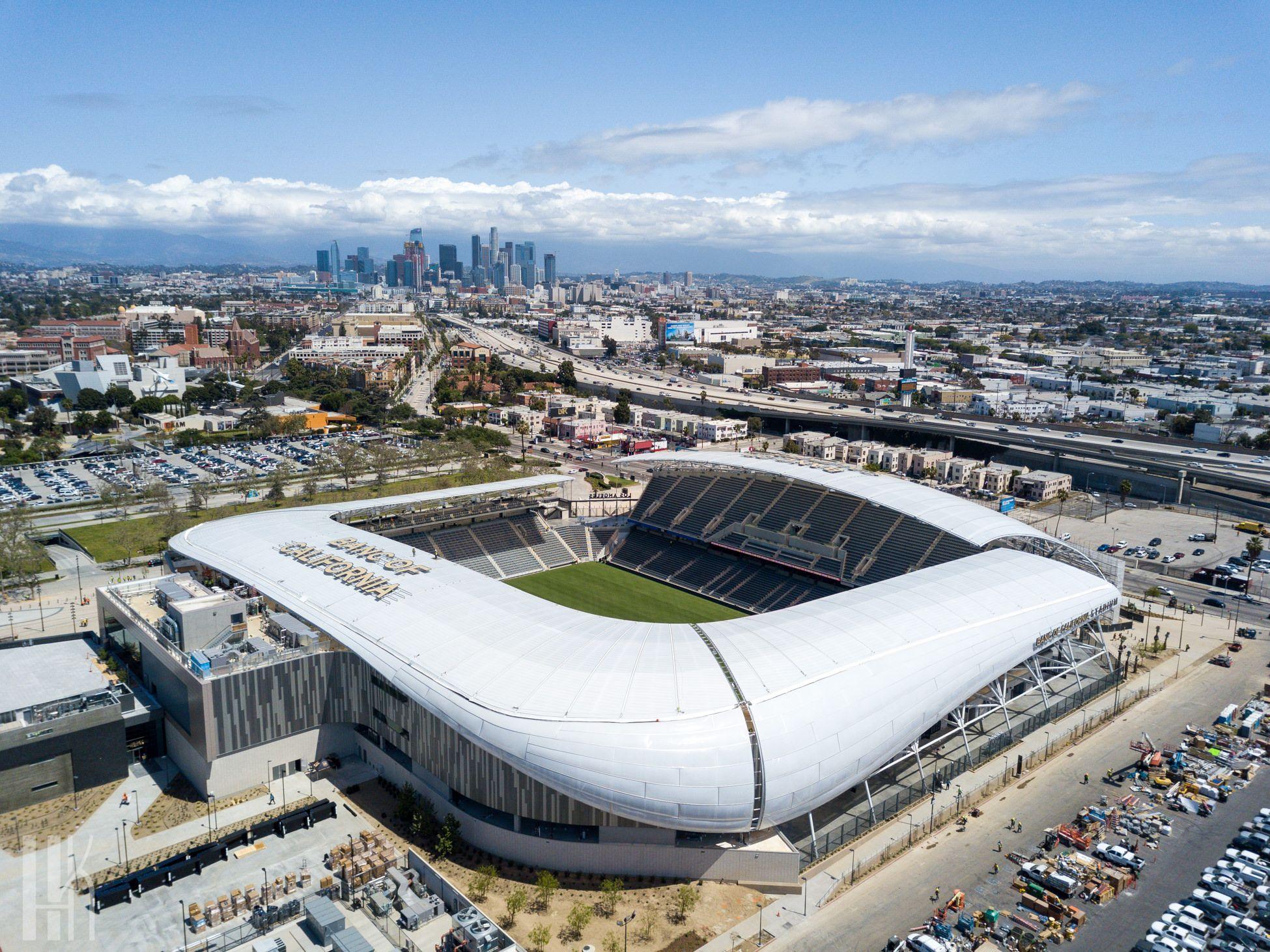Banc Of California Stadium Completed In Exposition Park Stadium Stadium Architecture Soccer Stadium