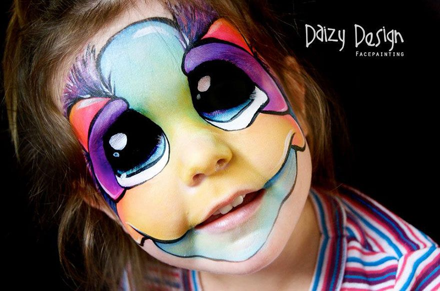 face painting designs - Halloween Face Painting For Girls