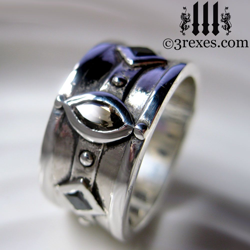 The Moorish Medieval Silver Band Ring Is Heavily Inspired By Wedding Rings Worn Royalty This Magical Can Be Both Kings: Meval Royal Wedding Rings At Websimilar.org