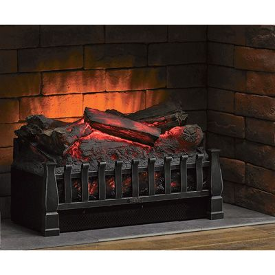 duraflame electric log set insert heater 4600 btu 1350
