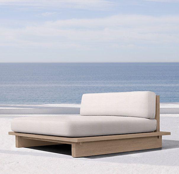 Restoration Hardware Outdoor Furniture Chaise Lounge