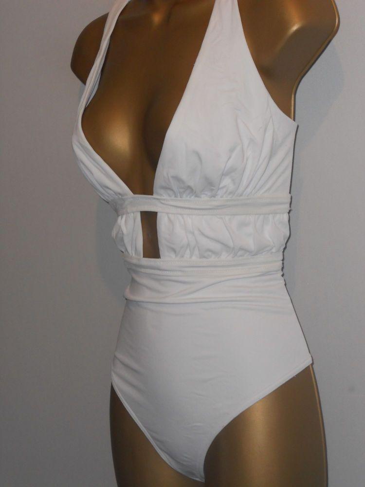 0f9ab507f56f9 SEXY LADIES WHITE ASOS PLUNGE LOW BACK SWIMSUIT SIZE 12 SWIMWEAR  fashion   clothing  shoes  accessories  womensclothing  swimwear (ebay link)