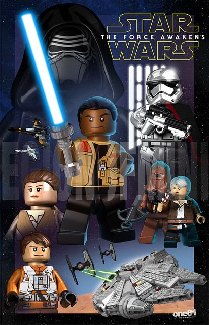 The Force Awakens My Lego Art Star Wars Poster Lego
