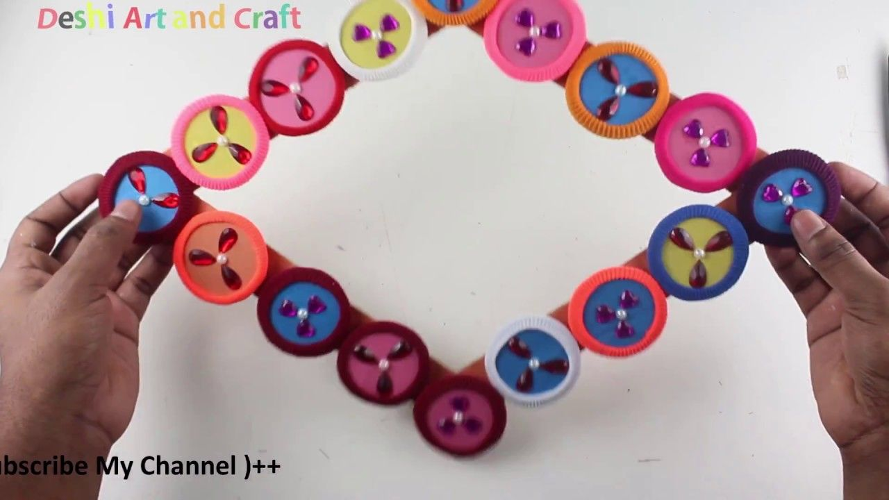 Best out of waste from hair rubber bands crafts idea | Diy Home ...