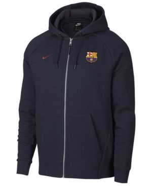 6e2137930 Nike Men s Fc Barcelona Club Team Full-Zip Optic Hoodie - Blue XXL