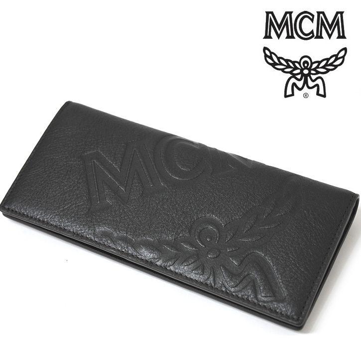 MCM(エムシーエム) 長財布 ブラック レザー スナップボタン ロングウォレット【送料無料】 wal-mcm-017