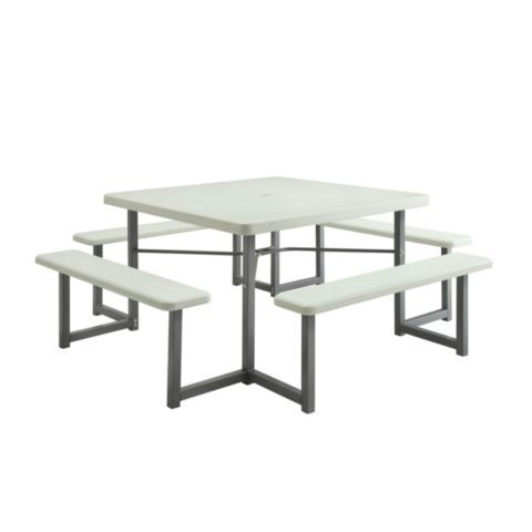 square four sided picnic table 49 in tractor supply online store
