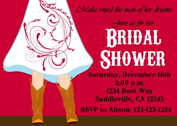 Boots Wedding Invitations: Cowgirl Boots Wedding / Bridal Shower Invitation Choose