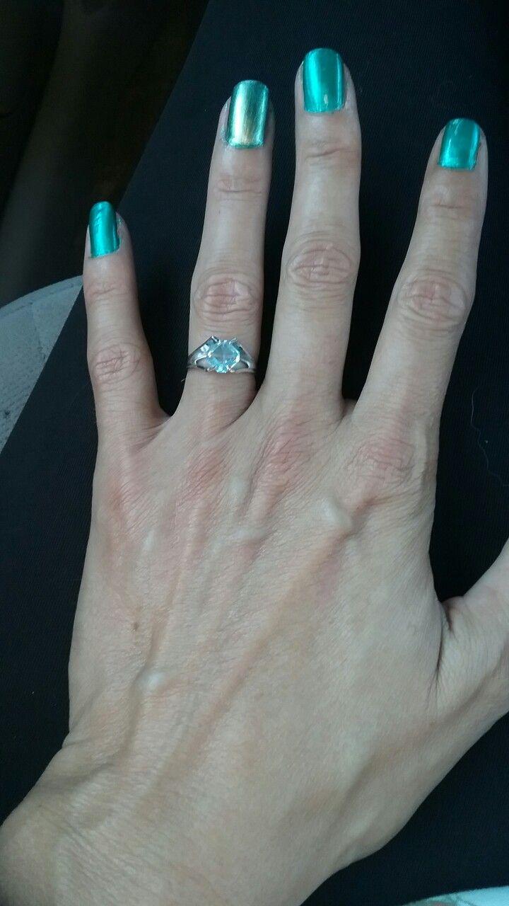 August Peridot inspired nail colors. | hair color/nails #DIY ...
