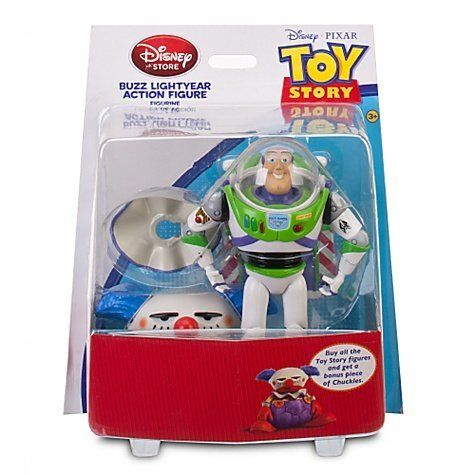 Toy Story Buzz Lightyear Action Figure with Build Chuckles Part by Disney. $5.93. Made by Disney in 2011. Size: 6.5 inch. For Ages 3+