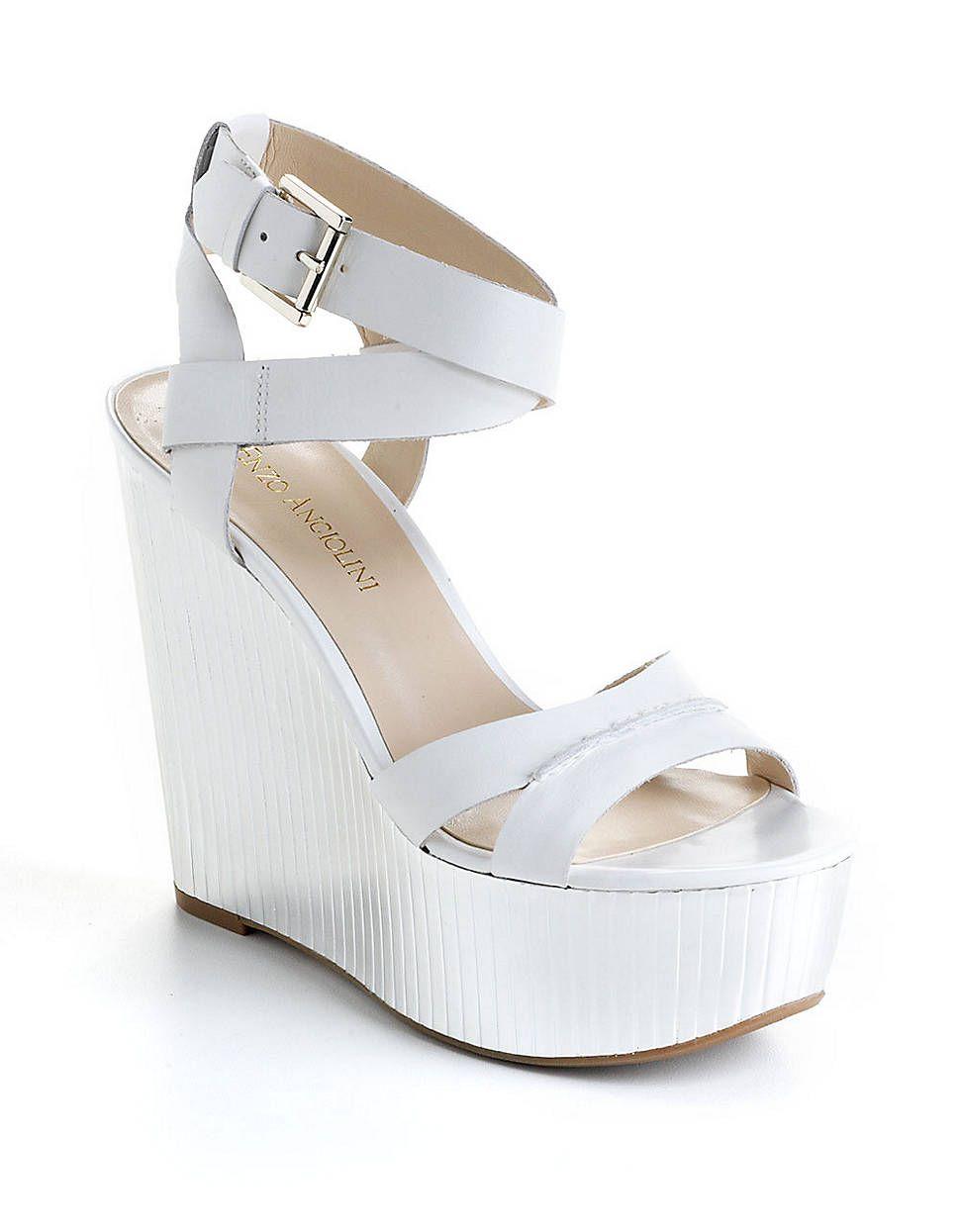 428505c209b Zamaz Leather Platform Wedge Sandals