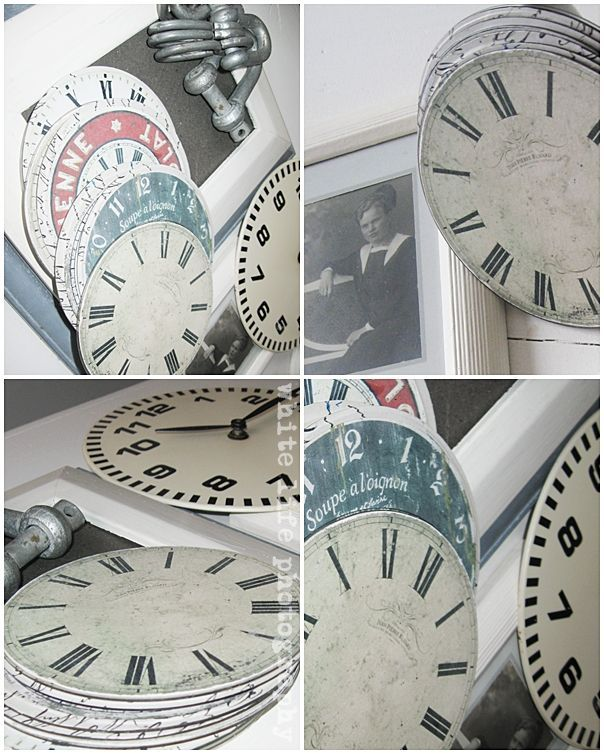Recycle old CDs Free printable clock faces to mod podge onto old - clock face template