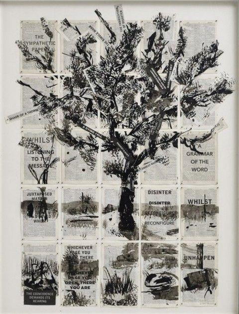 RA Summer Exhibition 2015 work 475 :COMPOSITE TREE, THE SYMPATHETIC TREE by William Kentridge Hon RA, £.