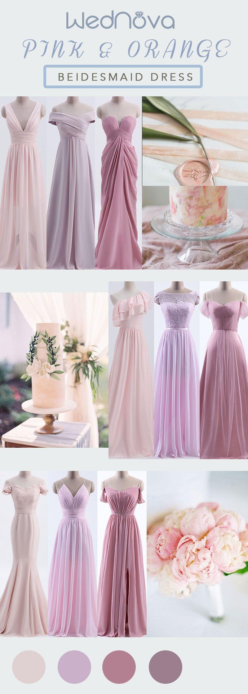 Wedding decorations white november 2018 Sexy pink bridesmaid dresses new styles chiffon a line dress free
