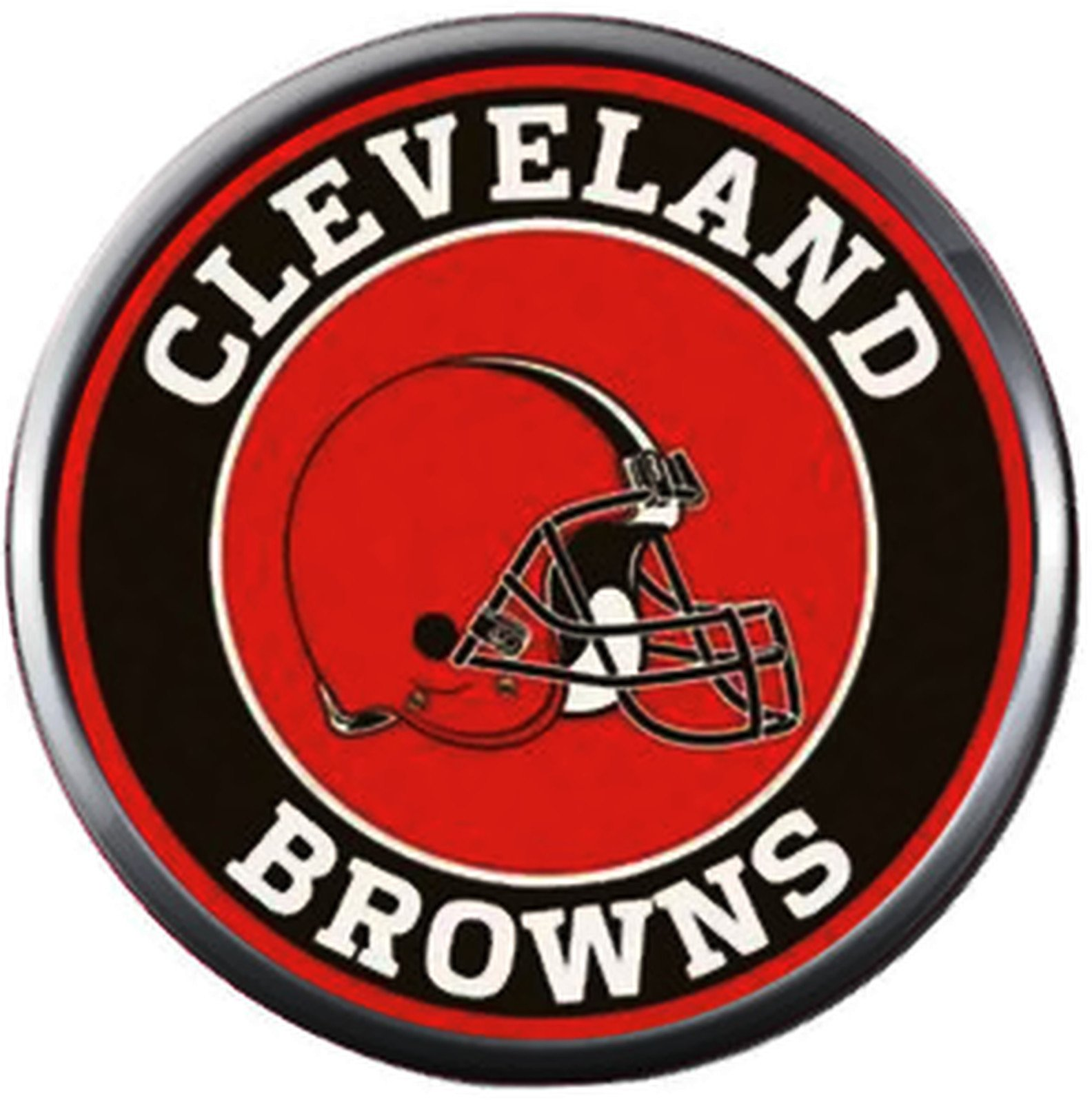 672b730f NFL Logo Cleveland Browns Vintage Circle Football Fan Team Spirit 18MM -  20MM Fashion Jewelry Snap Charm