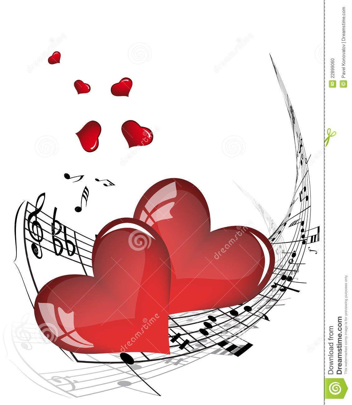 Corazon Con Notas Musicales Buscar Con Google Notas Musicales
