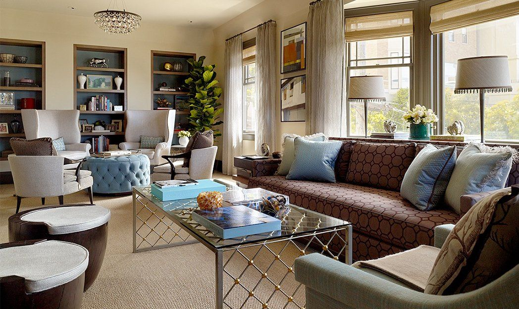 This room is shaped a lot like ours some really good for Living room with lots of seating