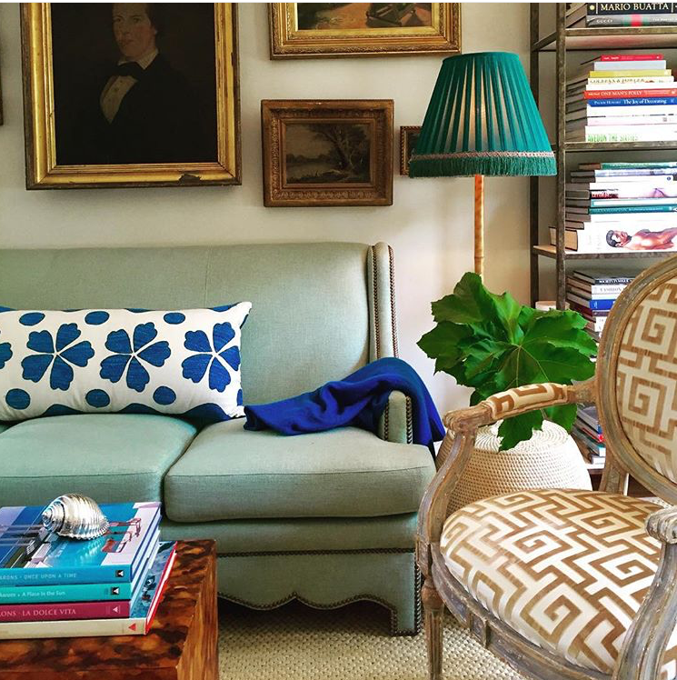 Madeline's Blue Fauve Suzani Pillow From @Ware Porter