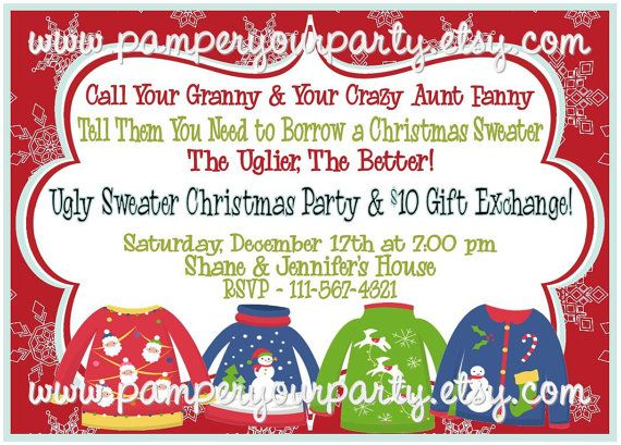 Ugly sweater holiday party invitation digital invitations items similar to on sale holiday ugly sweater party invitation christmas party invite personalized digital diy on etsy solutioingenieria Choice Image