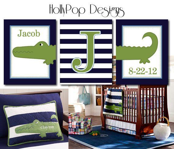 Baby Decor Alligator Boy Nursery Prints Art