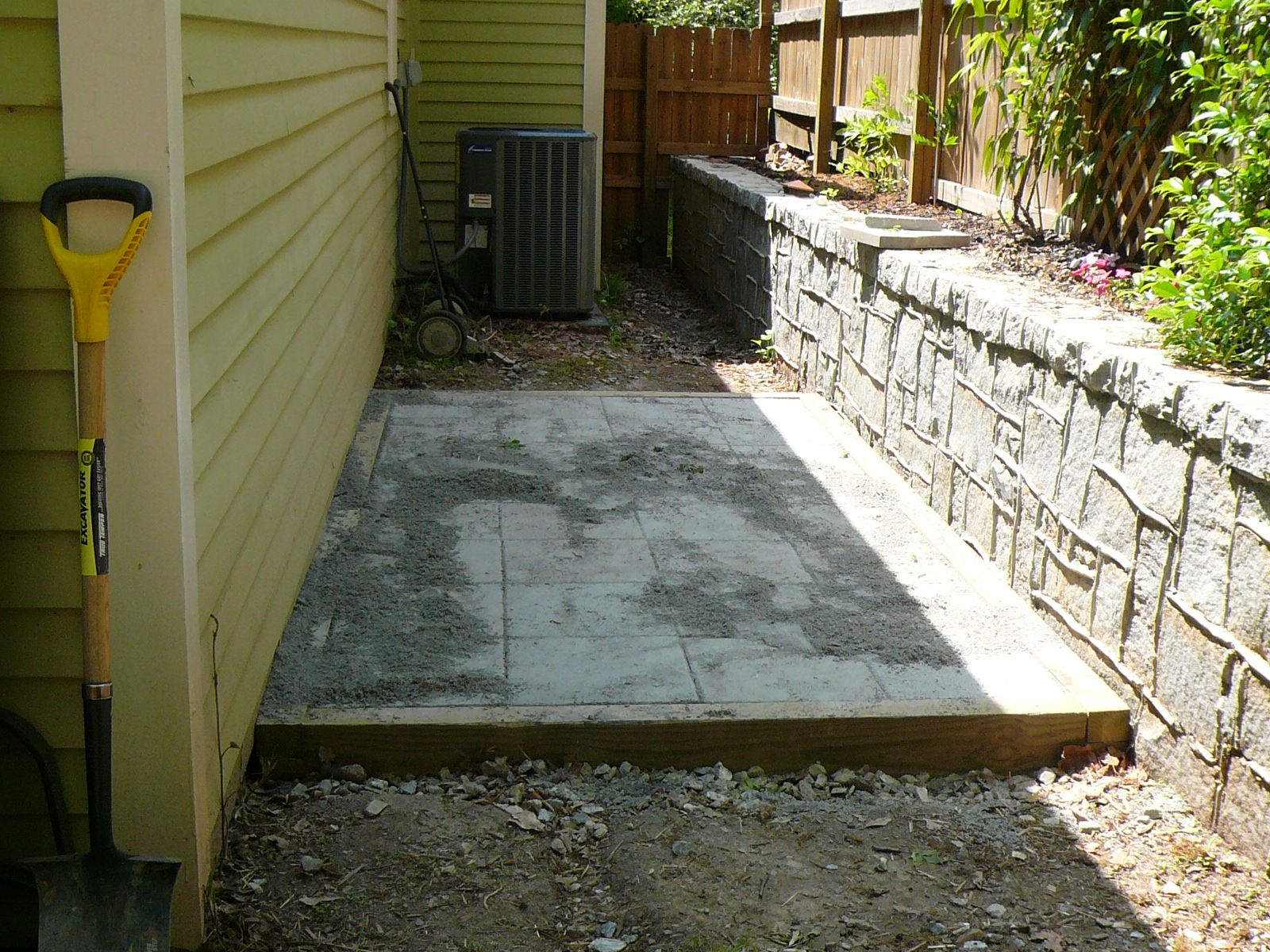 great idea for a low profile shed foundation pressure treated