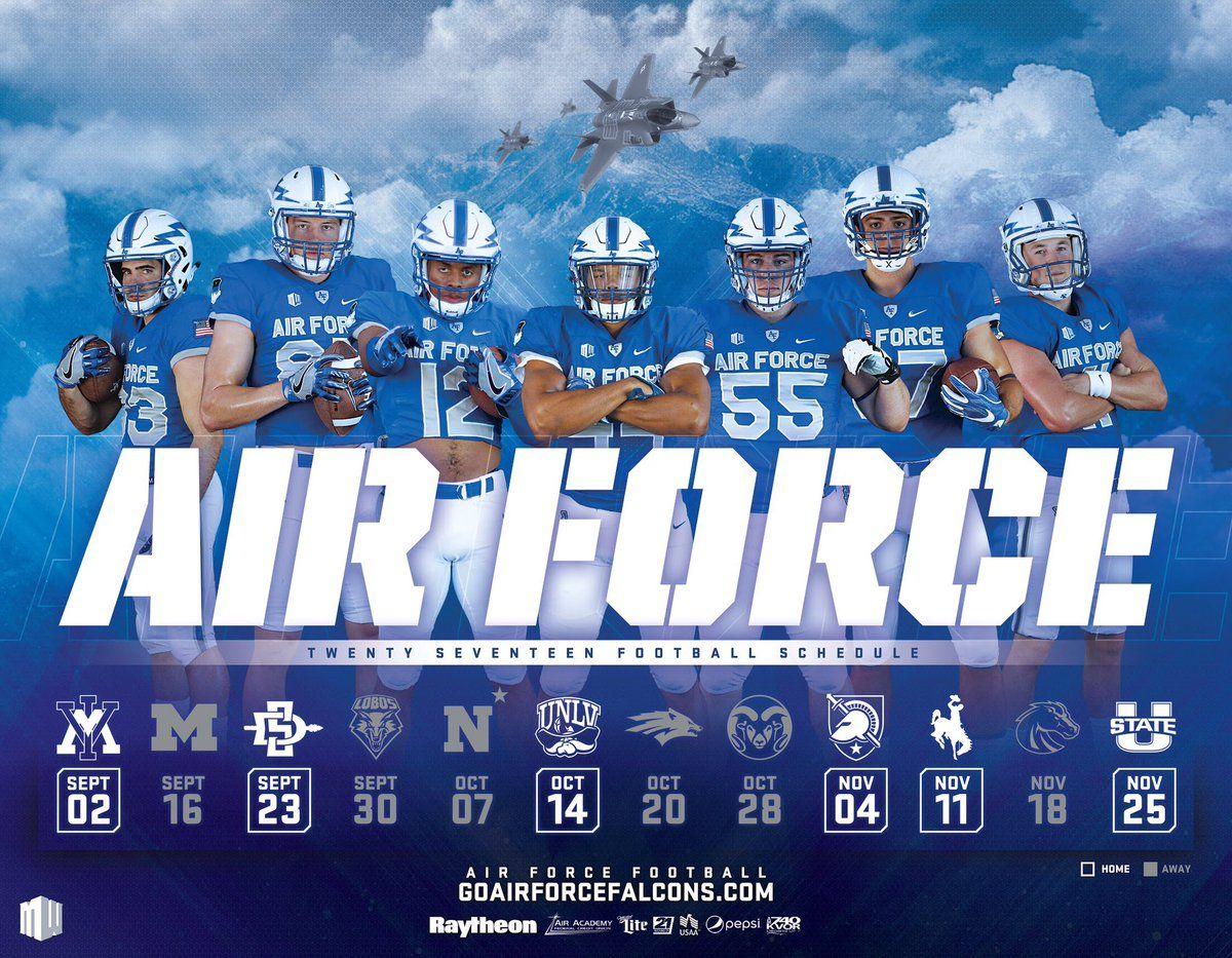 2017 Air Force Football Poster Football Poster Football Design