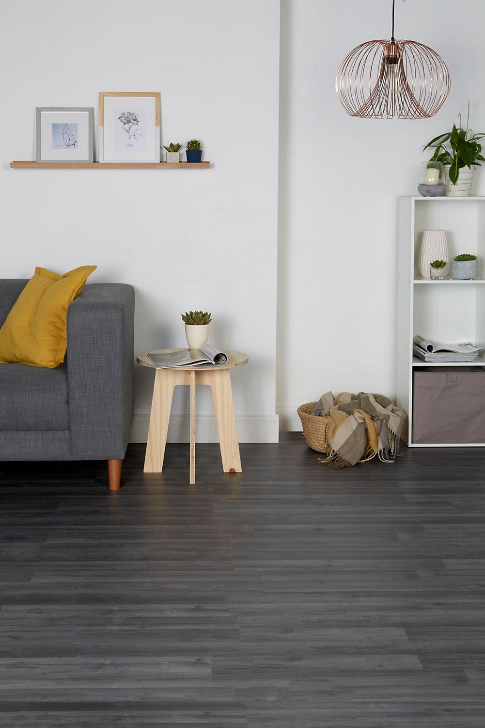 Bairnsdale Dark Grey Oak Effect Laminate Flooring 1 996 M Pack Laminate Flooring Dark Laminate Floors Home Decor