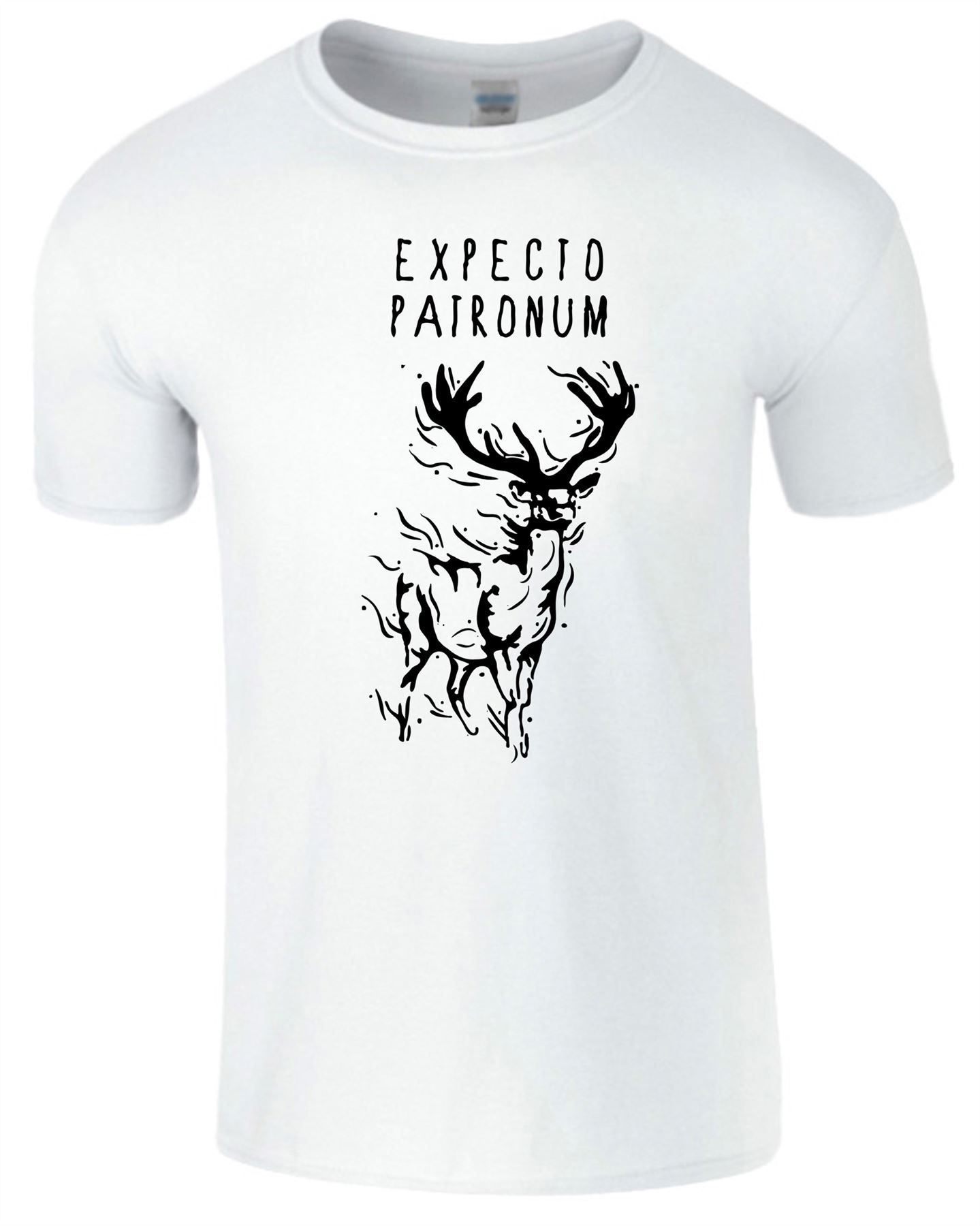 Expecto Patronum Ladies T shirt Harry Potter Deathly Hallows Magic Top Tshirt