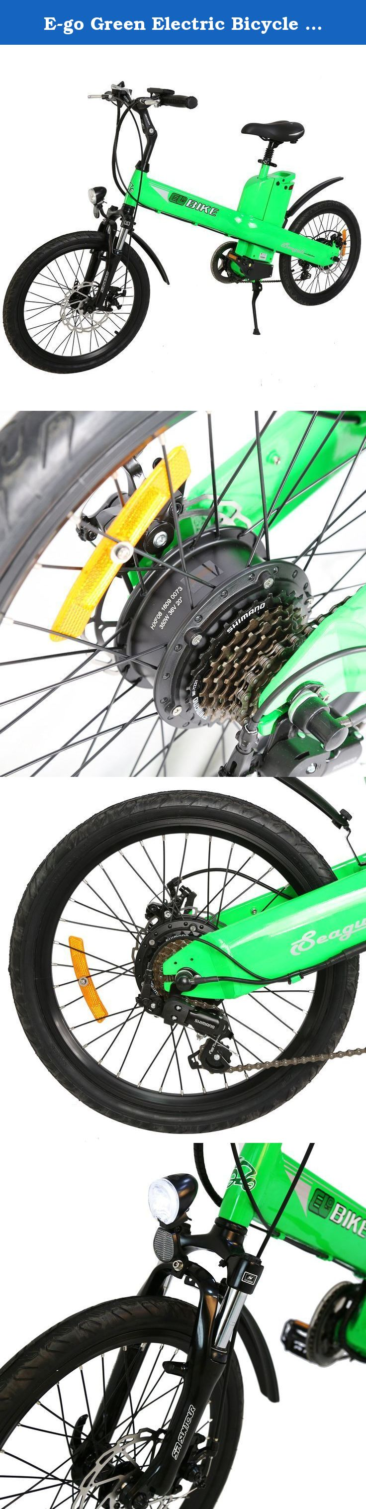 E Go Green Electric Bicycle 20 Inch Cycling 36v 350w E Bike Lithium Battery City Work Let S Ride E Bike Drive Less Sav Electric Bicycle Green Electric Bike
