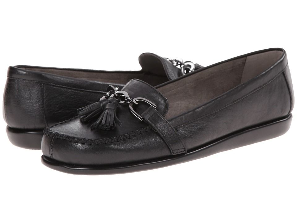 e28810ce2f4ca Aerosoles Super Soft Women's Slip on Shoes Black Leather | Products ...