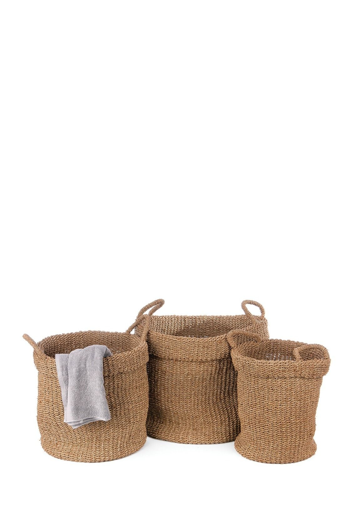 Perfect for storage or laundry!  SKALNY Seagrass Utility Basket Set