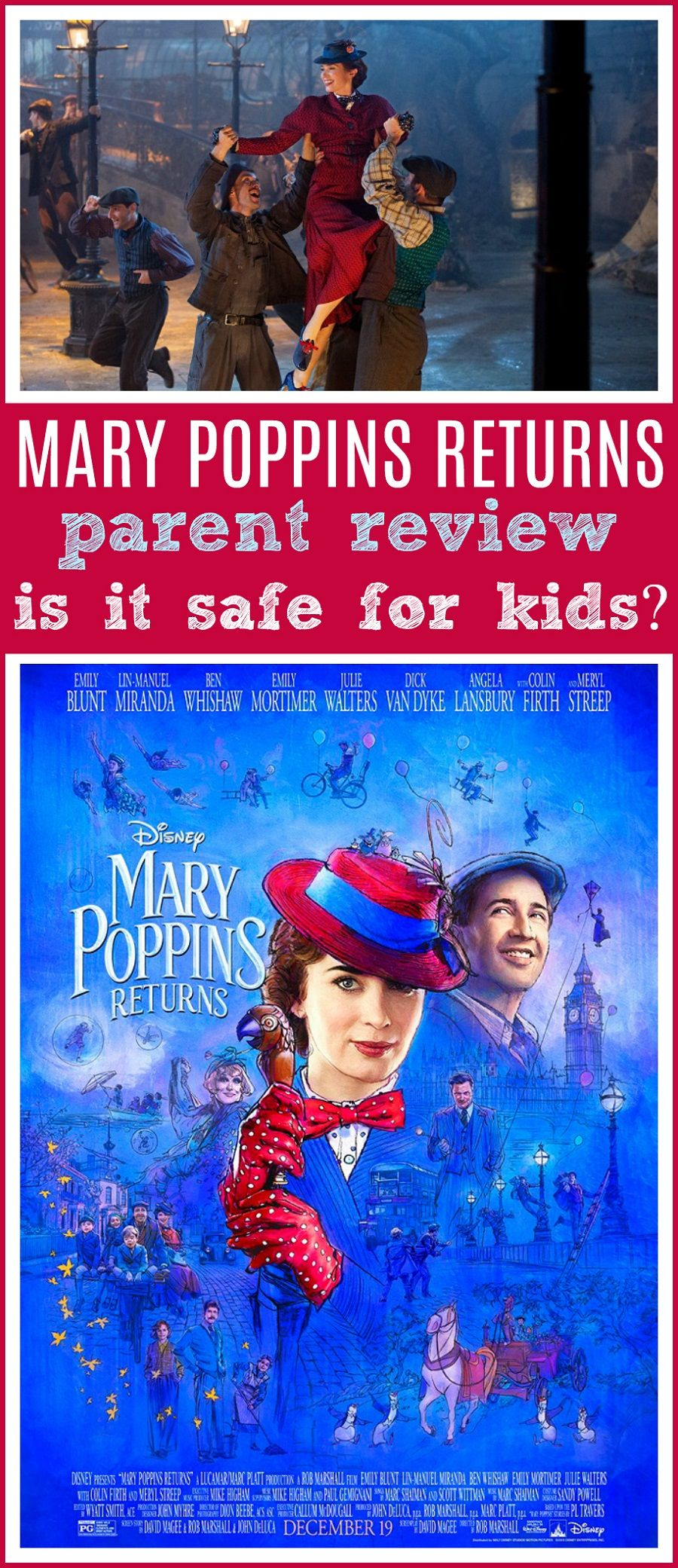 Mary Poppins Returns Movie Review Kids safe, Good movies