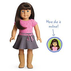 Want American Girl Dolls Light Skin Dark Brown Hair With