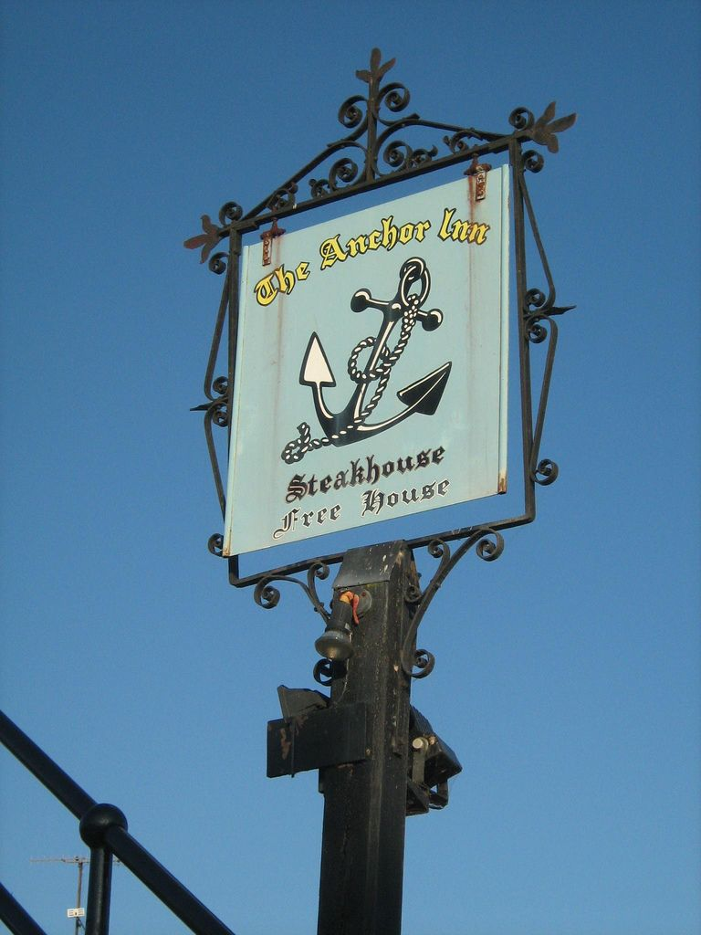 The Anchor Inn, Yalding, Kent - close to where I lived for a year...