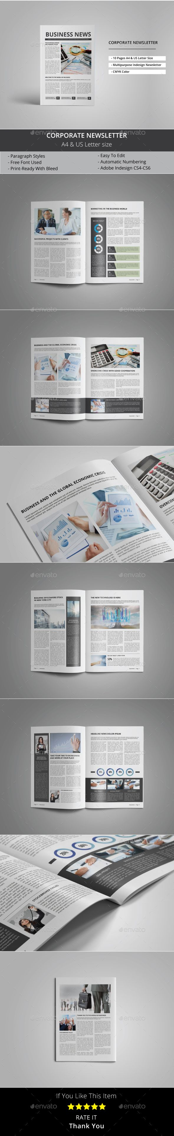 Corporate Newsletter  Newsletter Templates Print Templates And