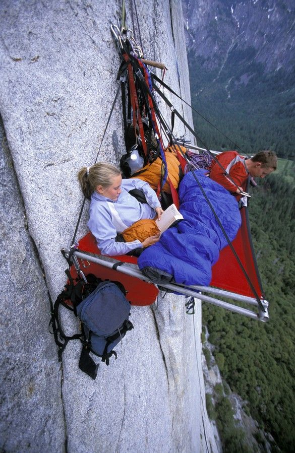 Portal edge camping at Yosemite. No thanks. Deportes de