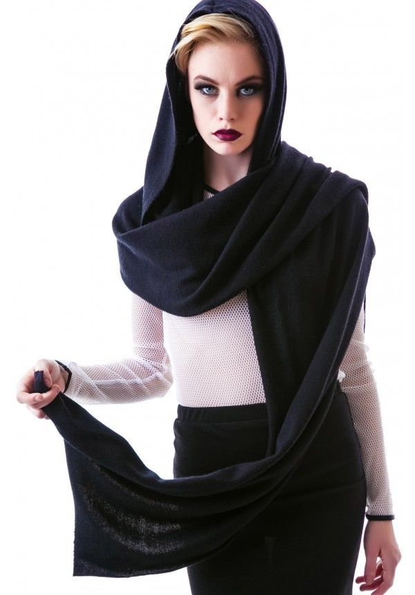Widow Hooded Scarf | Dolls Kill