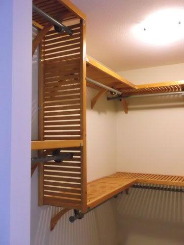 John Louis Home Honey Maple Closet Installation