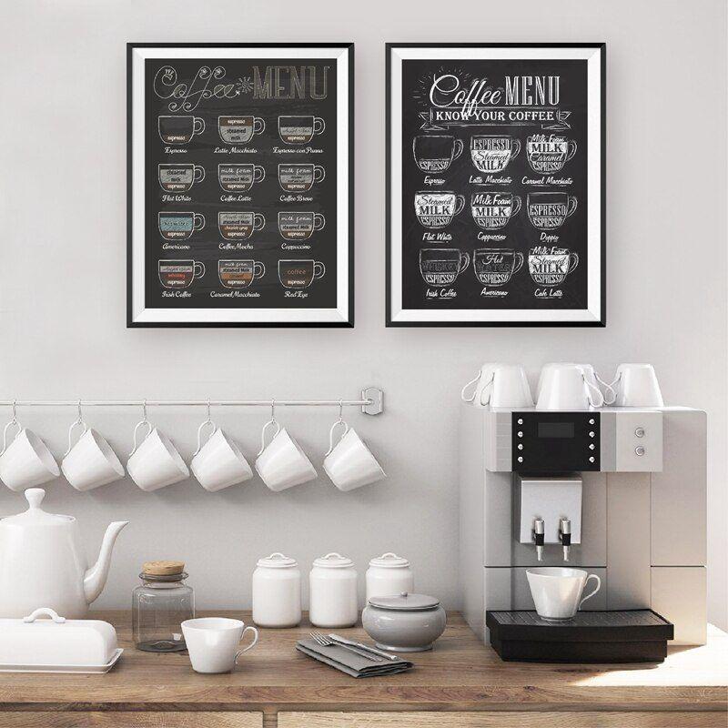 vintage retro espresso menu poster