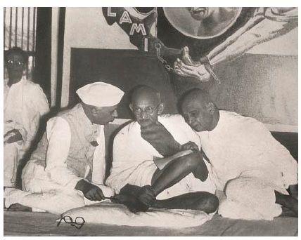 Sadar Patel unsung hero of India independence, with Bapu & Nehru
