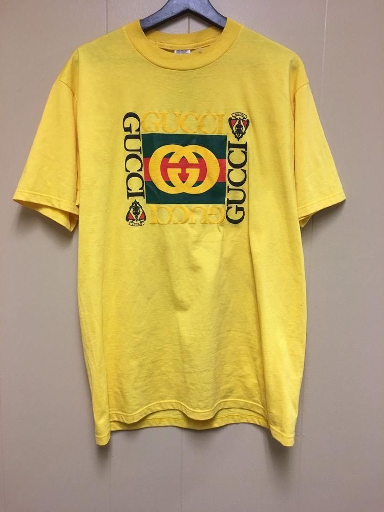 7fb2dcd62e3 VTG 80s Bootleg Jerzee Gucci Logo Print T Shirt
