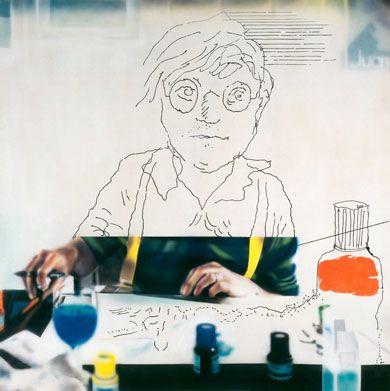 Portrait of David Hockney 1978