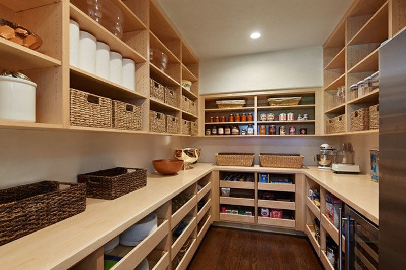 Large Pantry Walk In With Pull Out Shelves I Would Be Heaven
