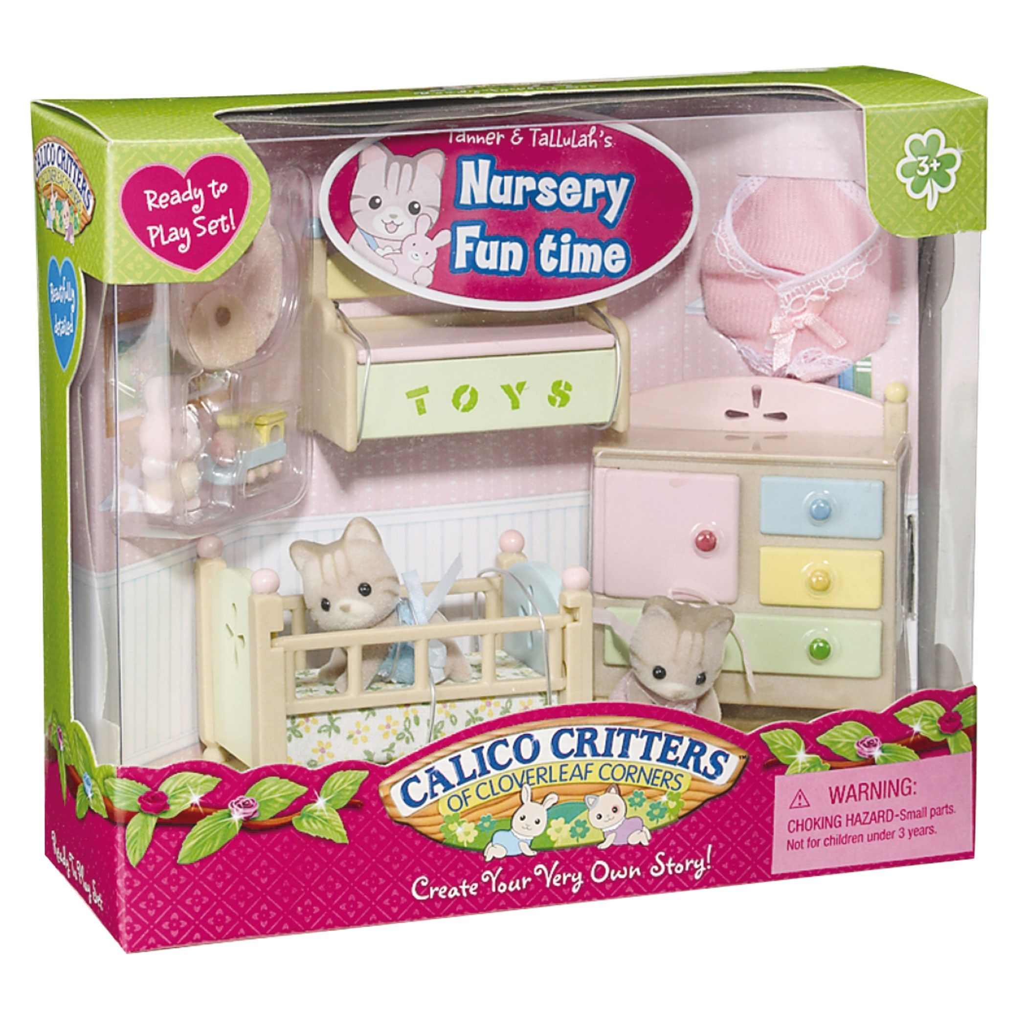Calico Critters Tanner And Tallulah S Nursery Fun Time Calico Critter Nursery