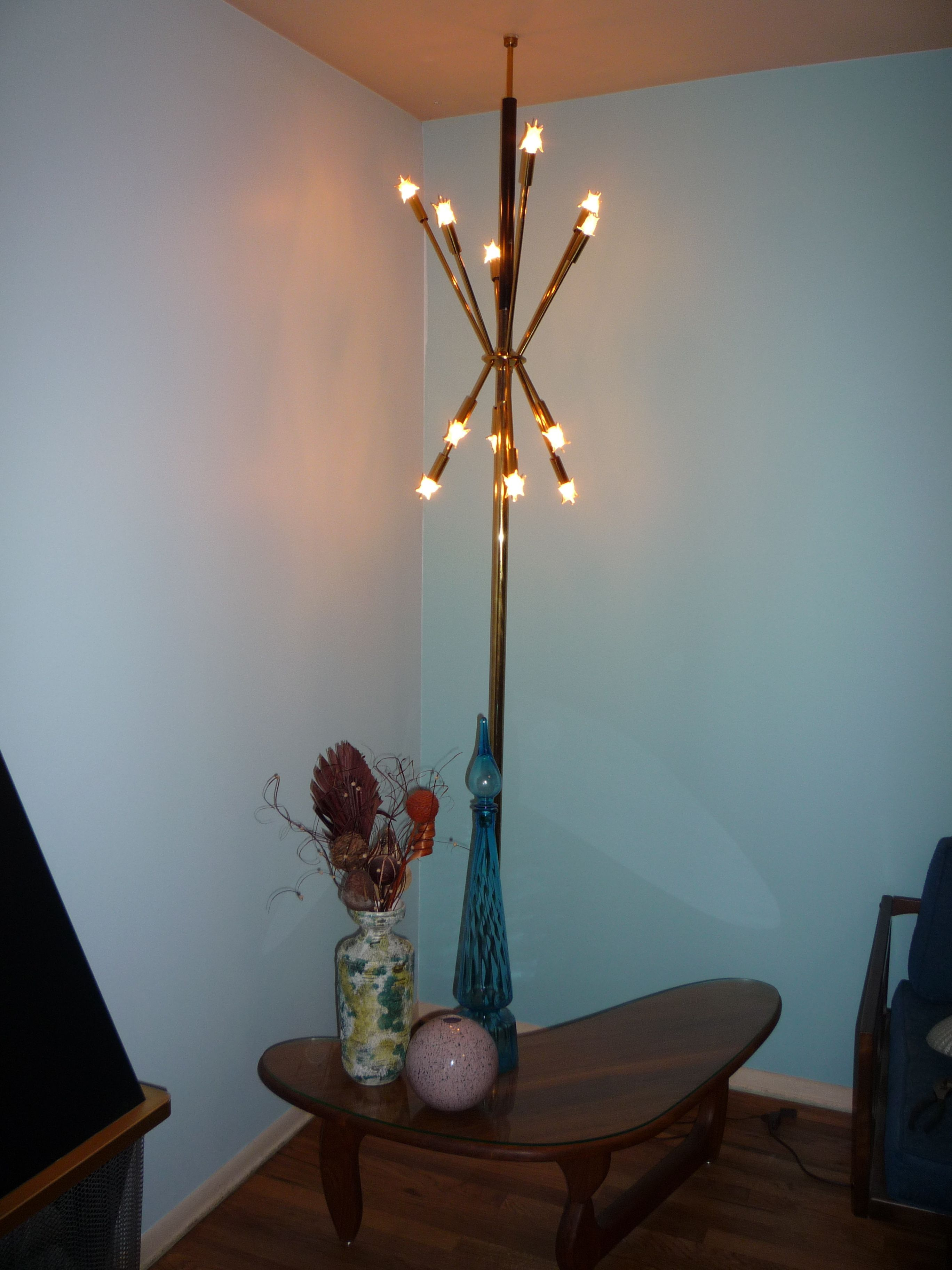 modern tray lamps pole shelf lighting attached with floor marvellous lamp table target home vintage depot bamboo lowes
